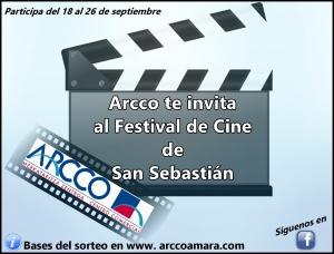 ARCCO te invita al Festival de Cine de San Sebastián.